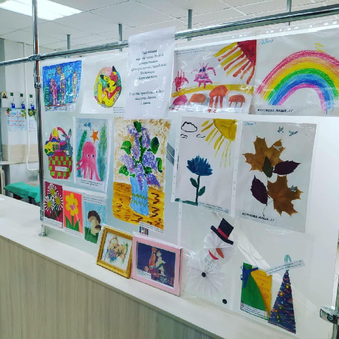 В день защиты детей в Березовской ЦГБ проходит выставка детских рисунков
